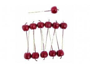 Sada jablíček s drátkem - červená. Cena za 1 polybag