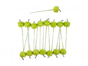Sada jablíček s drátkem - zelená. Cena za 1 polybag