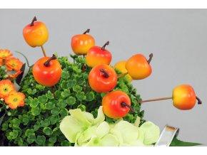 Sada jablíček s drátkem - oranžová. Cena za 1 polybag