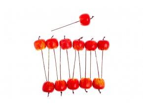 Jablíčko plastové, červený melír. Cena za balení (12ks v balení)