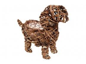 Obal ratanový - tvar psa (obal pr. 10cm).
