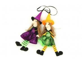 Čarodějnice, textilní dekorace, mix 2 druhů, cena za 1 kus