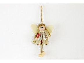 Andělka, textilní dekorace na zavěšení