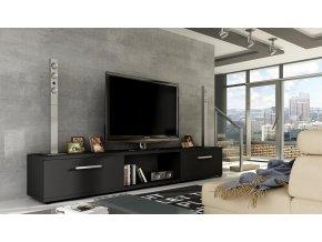 TV stolek MALLTON černá mat