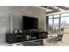 TV stolek MALLTON černý lesk