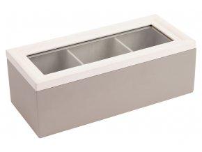 Krabička dřevěná na čajové sáčky