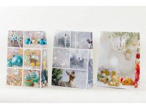 Taška dárková papírová, velká, vánoční motiv