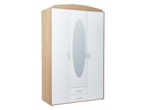 Šatní skříň GREACE 3D2S dub sonoma/bílá