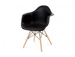 Jídelní židle, CT-719 BK1 černý / masiv buk