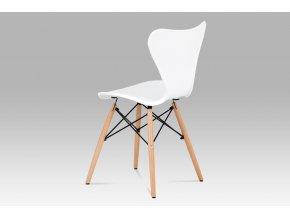 Jídelní židle bílý plast / natural CT-742 WT