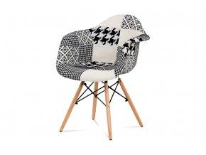 Jídelní židle, patchwork, CT-756 PW2