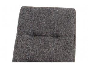 Jídelní židle, šedá látka, kov matný antracit