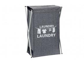 Koš na prádlo látkový, barva šedá