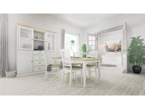 Toaletní stolek Provence 357 bílý