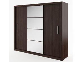 *Šatní skříň IDEA 01 wenge zrcadlo 250 cm
