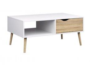Konferenční stolek Retro 384 bílá/dub