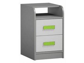 Kontejner k prac. stolu GYT 9 antracit/bílá/zelená