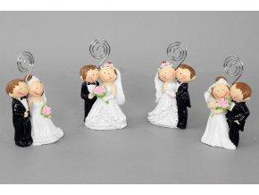 Nevěsta a ženich - stojánek na vizitky , dekorace z polystounu