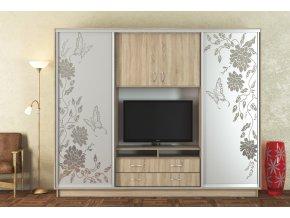 Šatní skříň+TV stěna UNI 270 cm