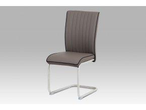 Jídelní židle, cappuccino/broušený nerez HC-393 CAP
