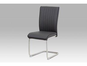 Jídelní židle, šedá/broušený nerez HC-393 GREY