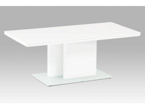 Konferenční stolek, vysoký lesk bílý / tvrzené sklo