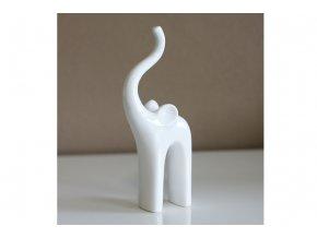 Slon keramický dekorační  - bílý.