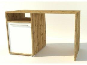 Pracovní stůl JOY 88 dub wotan/bílá