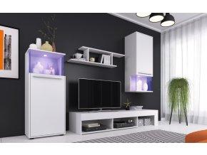 Obývací stěna PUNCH bílá