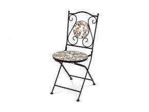 Židle kovová s mozaikou - stejnou jako je u stolu JF2206