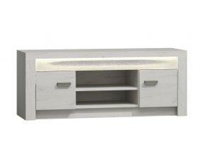 Televizní stolek INDIANAPOLIS I-9 jasan bílý