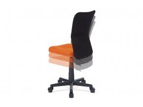 Kancelářská židle, oranžová mesh, plastový kříž, síťovina černá KA-2325 ORA