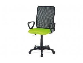 Kancelářská židle, látka MESH zelená / černá, plyn.píst