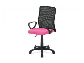 Kancelářská židle, látka MESH růžová / černá, plyn.píst