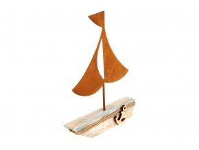 Lodička, dřevěná dekorace