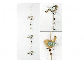 Girlanda, dřevěná dekorace na pověšení, mix dvou barev , cena za 1 kus