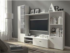Obývací stěna PUNTA bílá