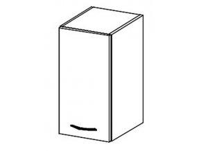 *W30 horní skříňka jednodveřová TRUFEL levá