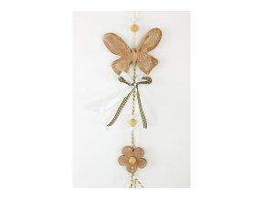 Motýl, dřevěná dekorace na zavěšení