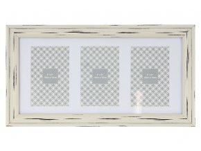 Fotorámeček plastový na 3 fotografie velikost 10x15 cm