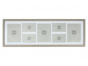 Fotorámeček plastový na 7 fotografii,  4x foto velikost 10x15 cm a 3x foto velikost 15x20 cm