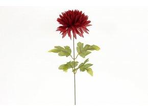 Chryzantéma 1-hlavá, bordó. Květina umělá.