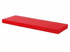 Nástěnná polička 60 cm, barva červená, vysoký lesk. Baleno v ochranné fólii.