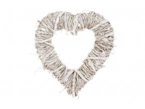 Srdce, proutěná dekorace