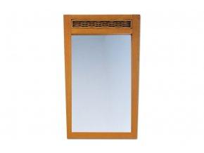 ATHENA - zrcadlo masiv kaučukovník / ratan, moření Honey (med)