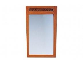 ATHENA - zrcadlo masiv kaučukovník / ratan, moření světlá třešeň