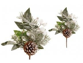 Větvička vánoční umělá dekorace