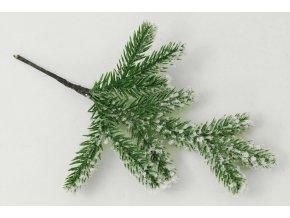Větvička vánoční zasněžená, umělá dekorace