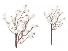 Větvička s bílými bobulemi, umělá dekorace