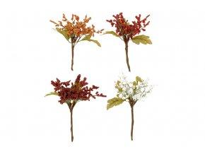 Větvička, umělá dekorace,  mix 4 druhů, 12 kusů v sáčku , cena za 1 kus